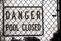 Danger Pool Closed Sign Royalty Free Stock Photography