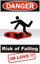 Danger: Risk of Falling in Love Stock Images