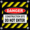 Danger sign Royalty Free Stock Photography