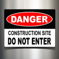 Danger sign Stock Images