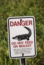 Danger sign. Florida USA Royalty Free Stock Photo