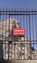 Danger sign in french Royalty Free Stock Photo
