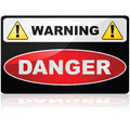 Danger sign glossy illustration showing a warning Stock Images