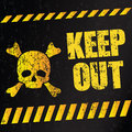 Danger sign keep out illustration Stock Photography