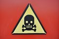 Danger sign skull Royalty Free Stock Images
