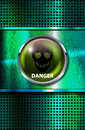 Danger sign vector grunge metal background with and skull eps file transparency and blend modes used Royalty Free Stock Photo