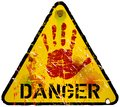Danger sign warning prohibition vector Royalty Free Stock Photography