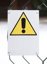 Danger sign yellow with white space to write warning a sentence Stock Photography