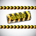 Danger signal over gray background vector illustration Royalty Free Stock Photos