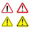 Danger signs set on a white background. Danger icon.
