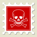 Danger Skull Sign Stamp Royalty Free Stock Photography