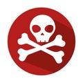 Danger skull symbol icon
