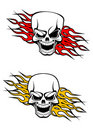 Danger skulls tattoo Stock Photo