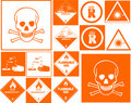 Danger symbol collection Stock Photo