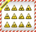 Danger symbols icon button colletction Royalty Free Stock Images