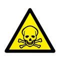 Danger to life skull and crossbones warning sign