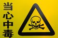 Danger to life skull and crossbones warning sign Royalty Free Stock Photos