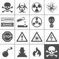Danger and warning icons. Simplus series Royalty Free Stock Photos