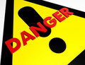Danger warning sign Stock Photography