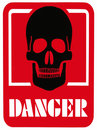 DANGER OF DEATH - Hazard Warning Sign Royalty Free Stock Photo