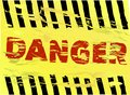Danger warning sign grungy style Royalty Free Stock Photography