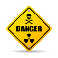 Danger warning sign Royalty Free Stock Photo