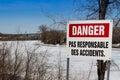 Danger warning sign Royalty Free Stock Photo