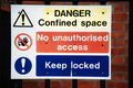 Danger Warning Signs Royalty Free Stock Photos