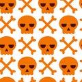 Danger warning vector skull and bones background Royalty Free Stock Photo