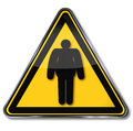 Danger weight gain and obesity shield Stock Image