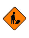 Danger workers ahead Royalty Free Stock Photo