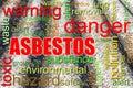Dangerous asbestos roof concept image