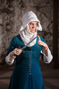 Dangerous european nun finger tip dagger Royalty Free Stock Photo