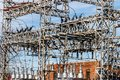 Dangerous High Voltage Electrical Power Substation VI Royalty Free Stock Photo