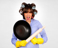 Dangerous housewife Stock Images