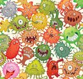 Dangerous microorganisms. Seamless pattern Royalty Free Stock Photo