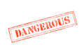 `DANGEROUS ` rubber stamp over a white background