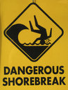 Dangerous Shorebreak Stock Image