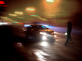 Dangerous situation on zebra crossing intentional motion blur Royalty Free Stock Photos