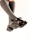Dangling Boys School Shoes Royalty Free Stock Photo