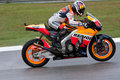 Dani Pedrosa at the Malaysian motoGP Stock Image