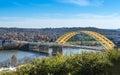 Daniel Carter Beard Bridge in Cincinnati Ohio Royalty Free Stock Photo