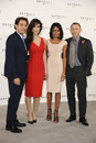 Daniel Craig, Javier Bardem, Naomie Harris, Berenice Marlohe, James Bond Stock Photo