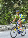 Daniele Bennati on Col du Tourmalet - Tour de France 2014 Royalty Free Stock Photo