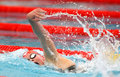 Danish olympic medalist swimmer Lotte Friis Stock Image