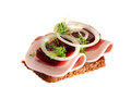 Danish open sandwiches Stock Photography