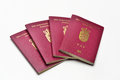 Danish Passports Royalty Free Stock Photo