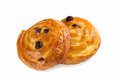 Danish pastry isolated on white Royalty Free Stock Image