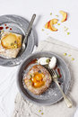 Danish pastry on two plates Stock Photos