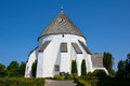 Danish round church Royalty Free Stock Photo